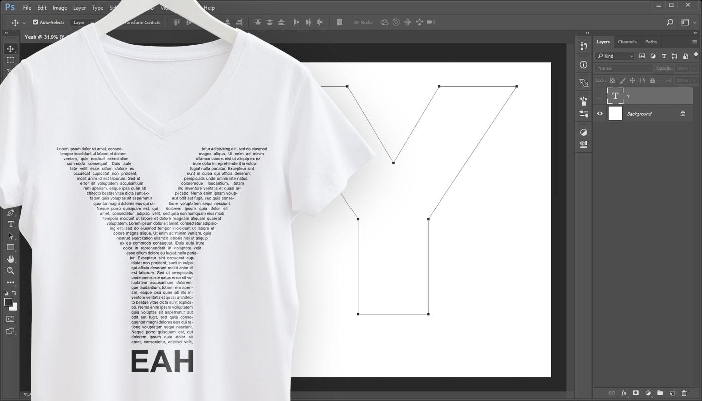 Typografie Designs mit Photoshop gestalten