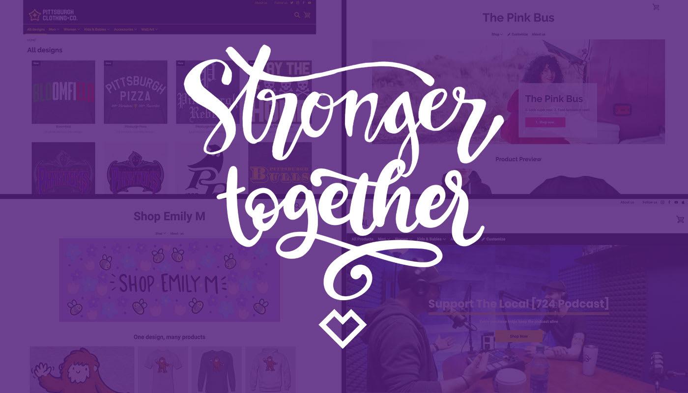 """Gemeinsam durch die Krise. """"Stronger Together"""" stellt sich vor."""