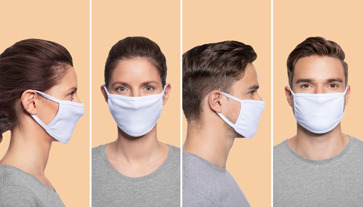 Maske auf! Neue Modelfotos für Deinen Shop
