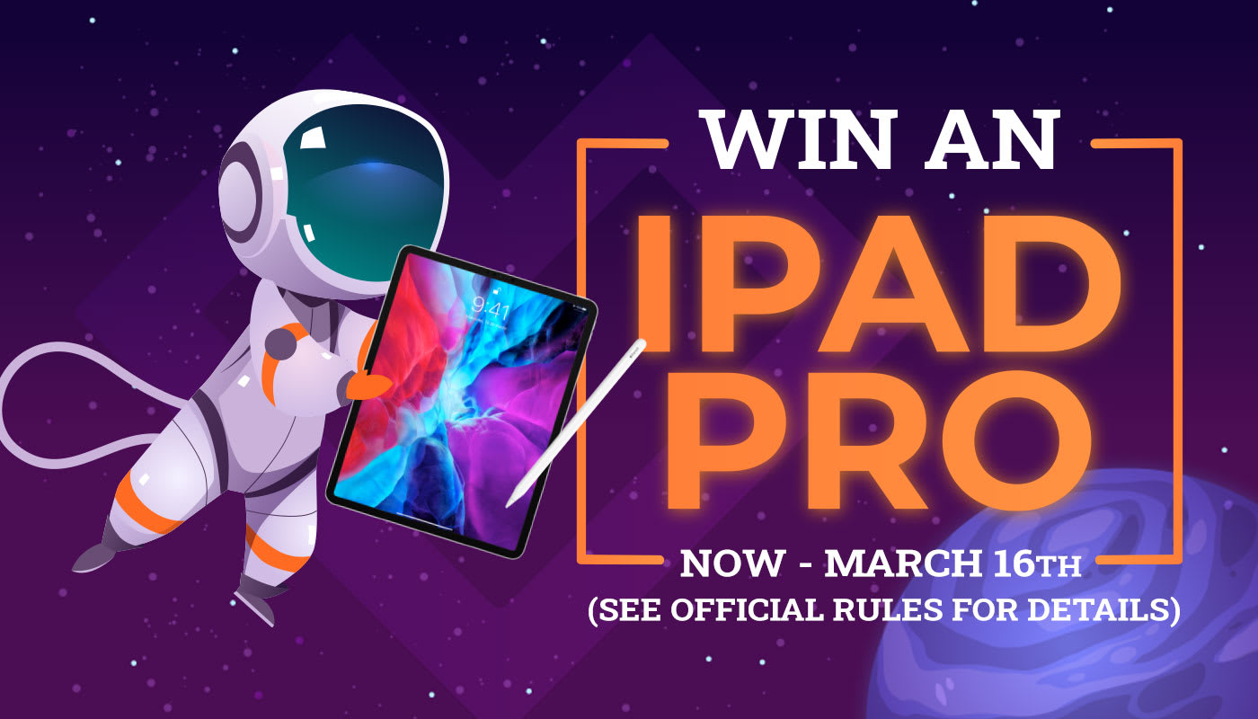 Take this week's challenge for a chance to win an iPad Pro