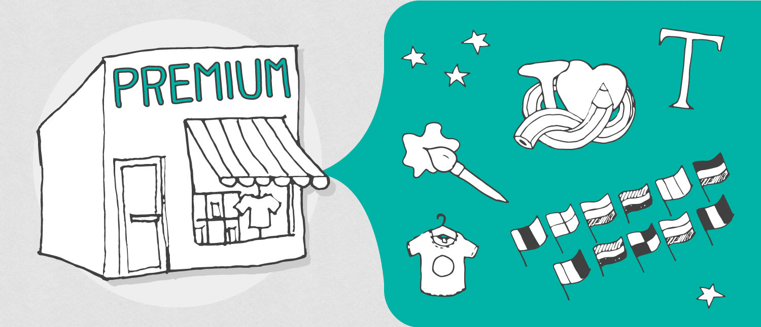 The Premium Shop Free for All!