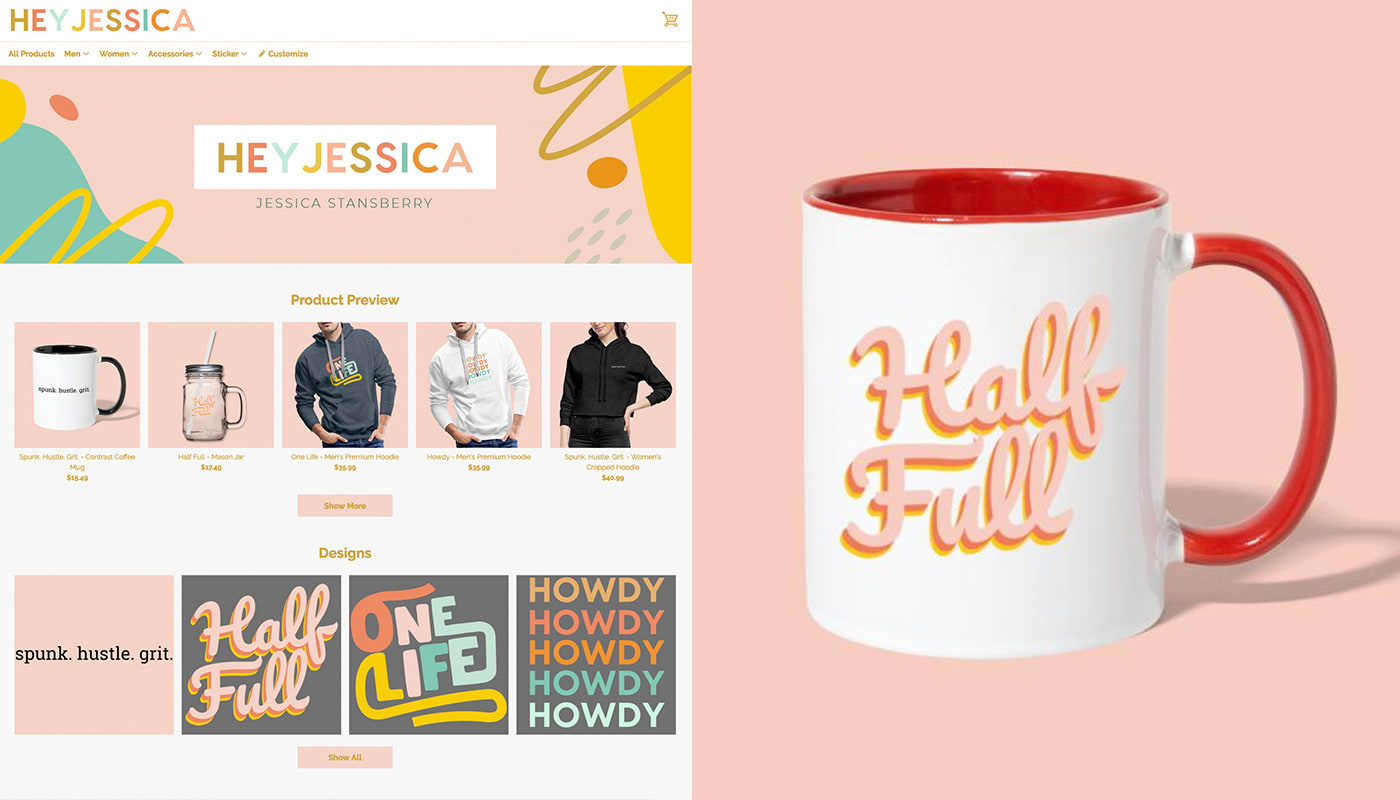 Hey Jessica Merch Now Available