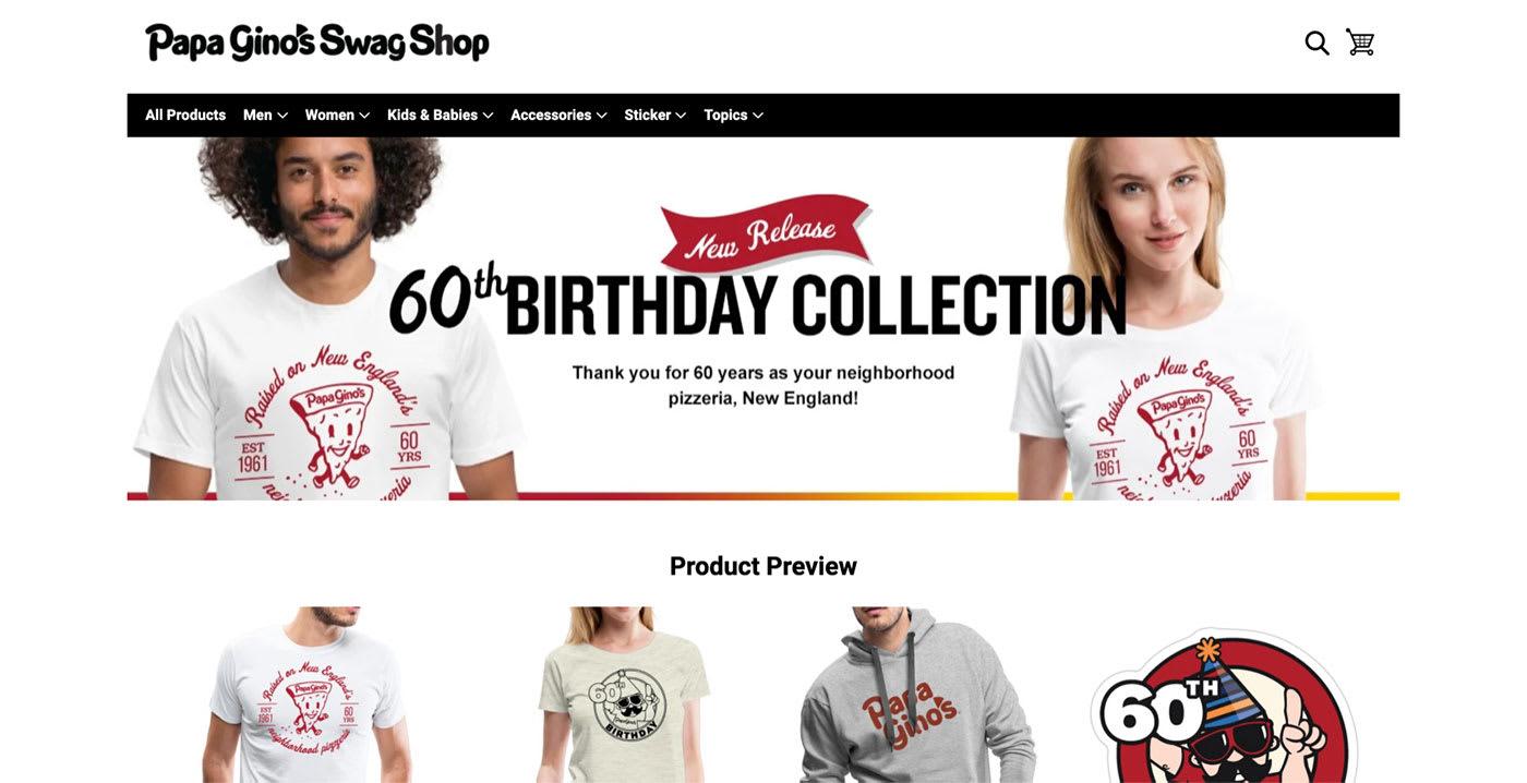 Papa Gino Shop