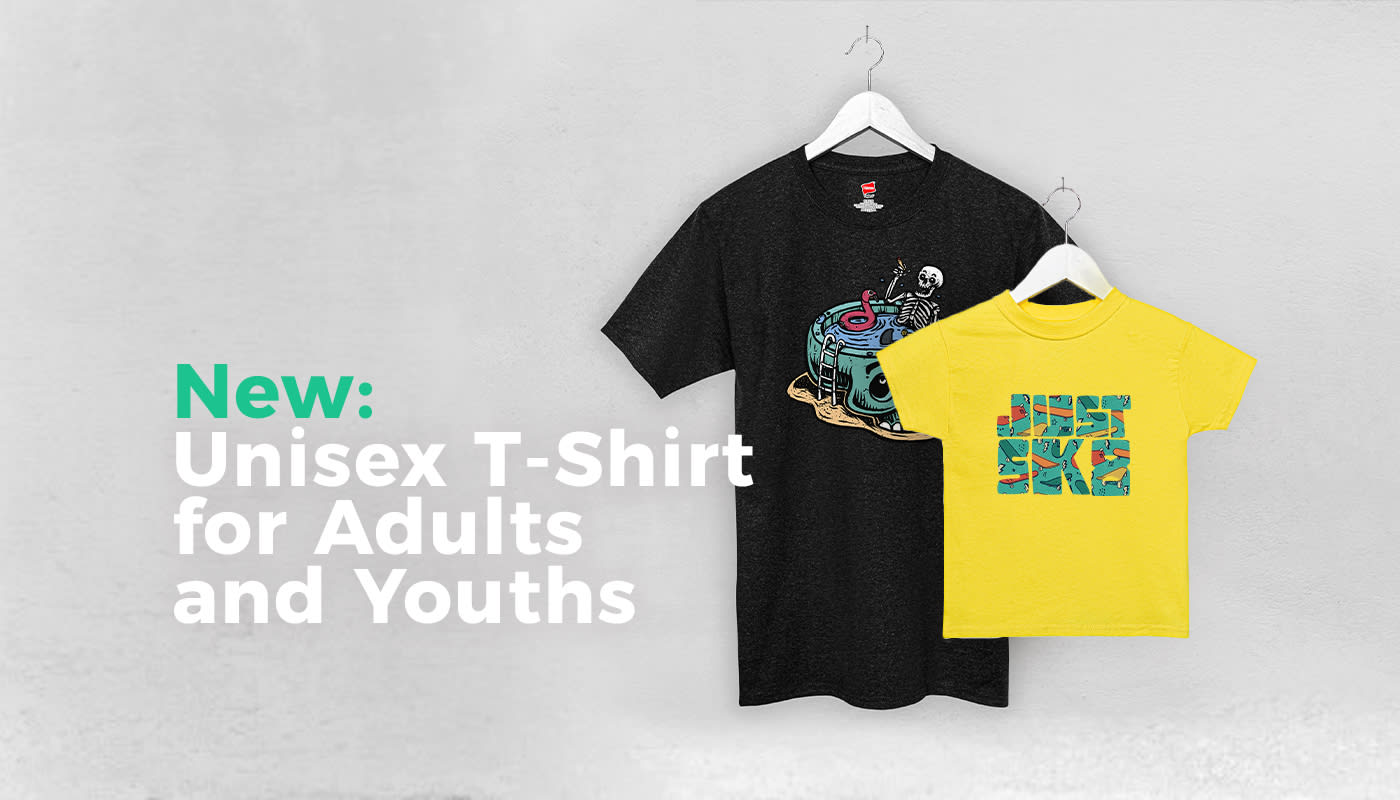 New: Unisex T-Shirt for Adults and Youths