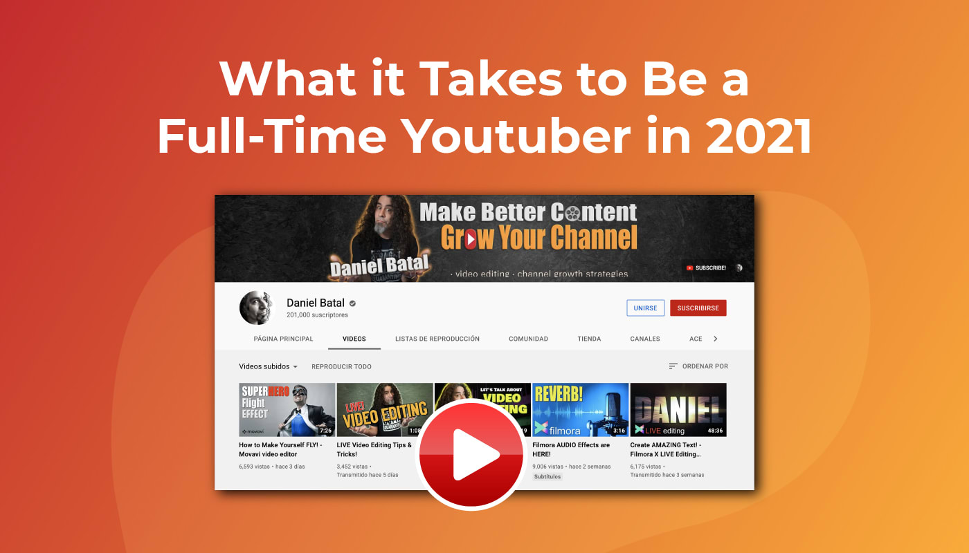 What it Takes to Be a Full-Time Youtuber in 2021
