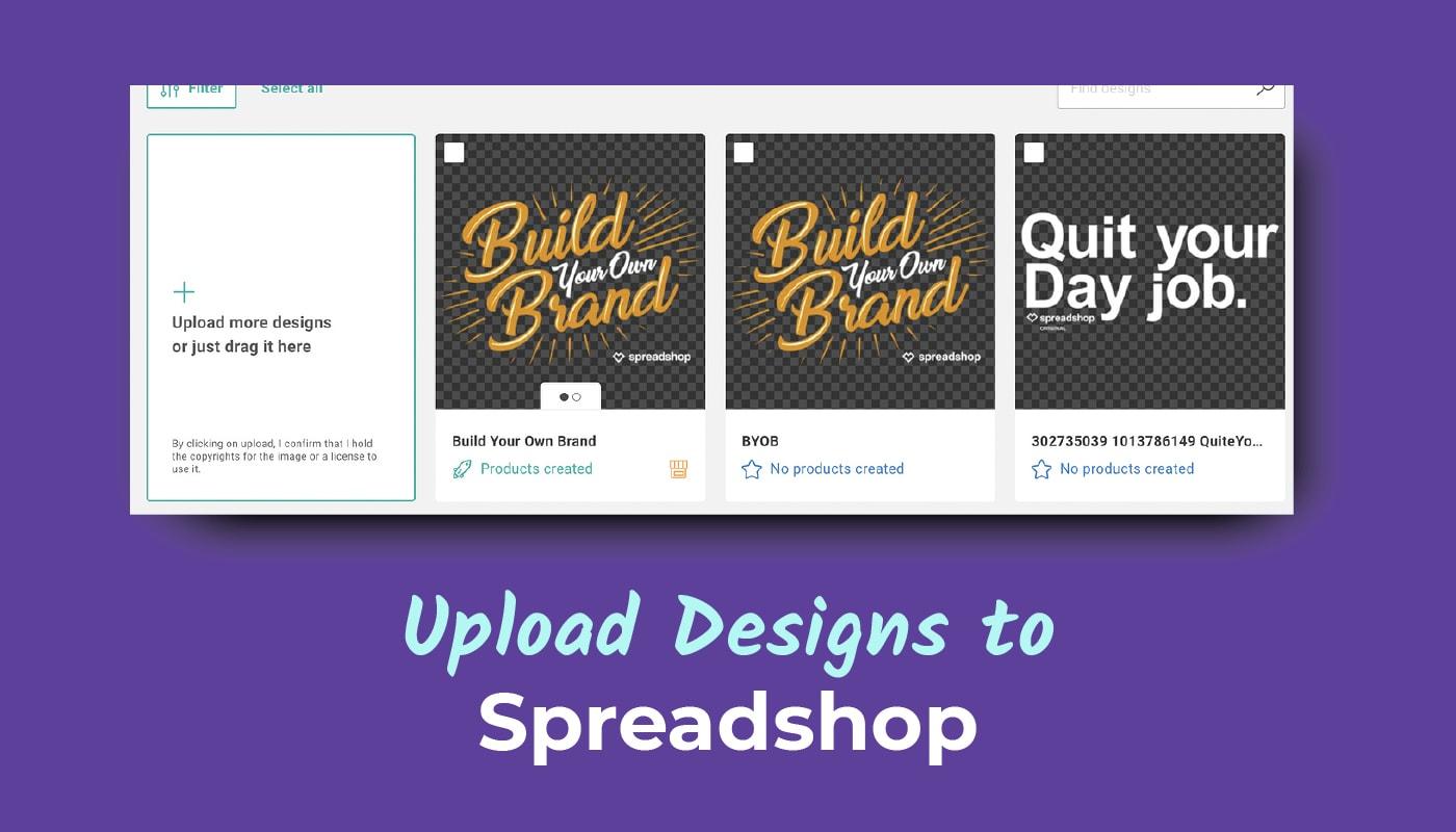 Upload Designs to Spreadshop